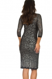 Rosemunde |  Lace dress with metallic details Julie | black  | Picture 6