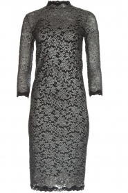 Rosemunde |  Lace dress with metallic details Julie | black  | Picture 1