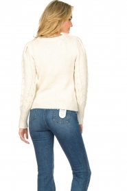 Set |  Cable knit sweater Alice | white  | Picture 6