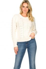 Set |  Cable knit sweater Alice | white  | Picture 2