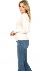 Set |  Cable knit sweater Alice | white  | Picture 5