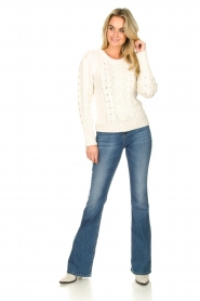 Set |  Cable knit sweater Alice | white  | Picture 3