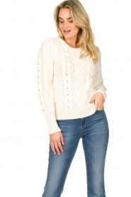 Set |  Cable knit sweater Alice | white  | Picture 4