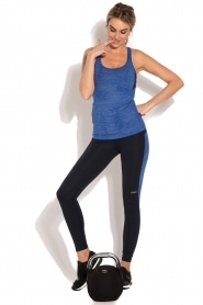 Casall | Sportlegging Structured Panel | donkerblauw  | Afbeelding 3