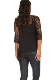 Rosemunde |  Top with lace Paola | black  | Picture 6