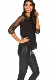 Rosemunde |  Top with lace Paola | black  | Picture 5