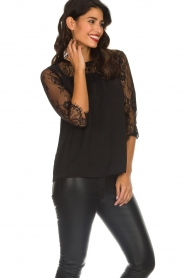 Rosemunde |  Top with lace Paola | black  | Picture 4