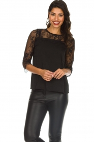 Rosemunde |  Top with lace Paola | black  | Picture 2