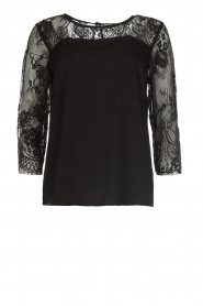 Rosemunde |  Top with lace Paola | black  | Picture 1