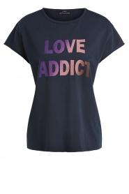 Set | T-shirt met Love Addict | zwart  | Afbeelding 1
