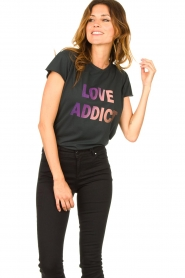 Set |  T-shirt print Love Addict | black  | Picture 4