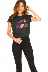 Set |  T-shirt print Love Addict | black  | Picture 2