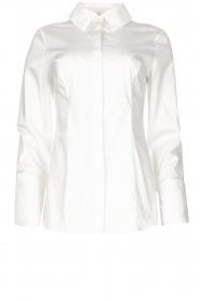Notes Du Nord |  Poplin blouse Alia | white  | Picture 1