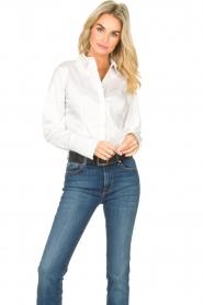 Notes Du Nord |  Poplin blouse Alia | white  | Picture 2