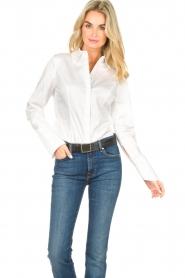 Notes Du Nord |  Poplin blouse Alia | white  | Picture 4