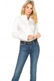 Notes Du Nord |  Poplin blouse Alia | white  | Picture 5