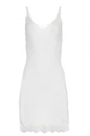 Rosemunde |  Slip dress with lace Daisy | white  | Picture 1