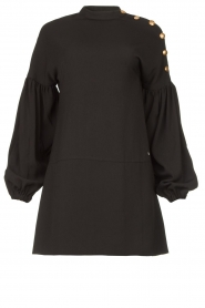 Kocca |  Dress with balloon sleeves Lynn | black  | Picture 1