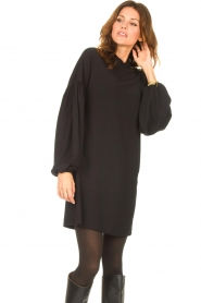 Kocca |  Dress with balloon sleeves Lynn | black  | Picture 4