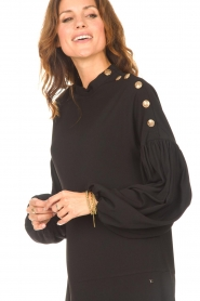 Kocca |  Dress with balloon sleeves Lynn | black  | Picture 8