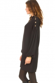 Kocca |  Dress with balloon sleeves Lynn | black  | Picture 6