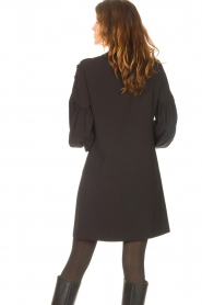 Kocca |  Dress with balloon sleeves Lynn | black  | Picture 7