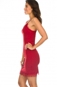 Rosemunde |  Slip dress with lace Daisy | red  | Picture 3