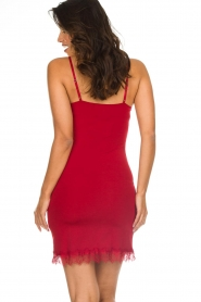 Rosemunde |  Slip dress with lace Daisy | red  | Picture 4