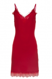 Rosemunde |  Slip dress with lace Daisy | red  | Picture 1
