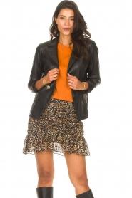 Kocca |  Faux leather blazer Rohana | black  | Picture 2