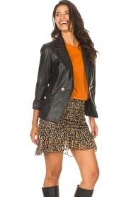 Kocca |  Faux leather blazer Rohana | black  | Picture 4