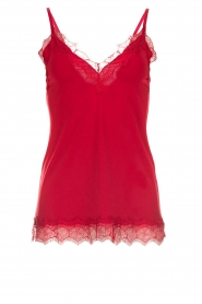 Rosemunde |  Top with lace Scarlett | red  | Picture 1
