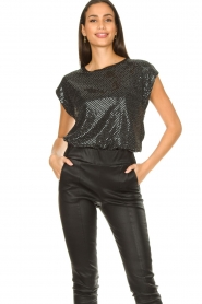 Set |  Lurex top Glame | silver  | Picture 4