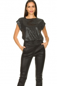 Set |  Lurex top Glame | silver  | Picture 2