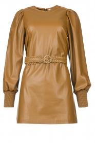 Kocca    Faux leather dress Ancilla   camel    Picture 1