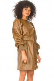 Kocca    Faux leather dress Ancilla   camel    Picture 5