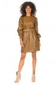 Kocca    Faux leather dress Ancilla   camel    Picture 3