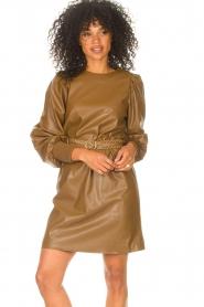 Kocca    Faux leather dress Ancilla   camel    Picture 4