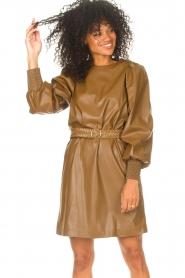 Kocca    Faux leather dress Ancilla   camel    Picture 2