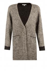 Patrizia Pepe | Mohair blend garen jas Valencia | grijs   | Afbeelding 1