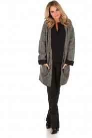Patrizia Pepe | Mohair blend garen jas Valencia | grijs   | Afbeelding 3