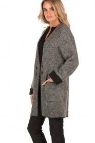 Patrizia Pepe | Mohair blend garen jas Valencia | grijs   | Afbeelding 4