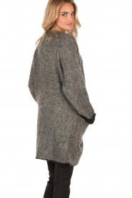Patrizia Pepe | Mohair blend garen jas Valencia | grijs   | Afbeelding 5