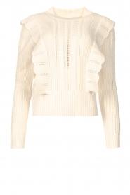 Kocca    Knitted sweater with ruffles Mirko   beige    Picture 1