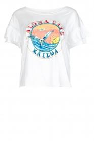 Leon & Harper | T-shirt Kailua | wit  | Afbeelding 1