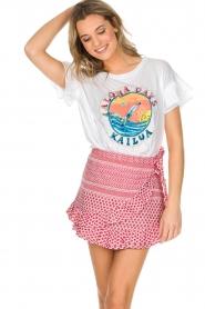 Leon & Harper | T-shirt Kailua | wit  | Afbeelding 2