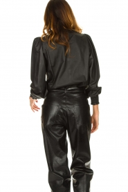 Set |  Leather top with puff sleeves Jill | black  | Picture 5