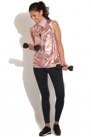 Casall |  Sleeveless sports jacket Metallic | pink  | Picture 3