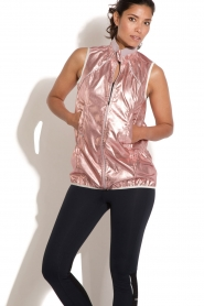 Casall |  Sleeveless sports jacket Metallic | pink  | Picture 2