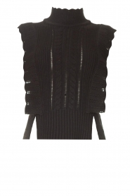 Kocca |  Spencer with ruffles Bjorn | black  | Picture 1